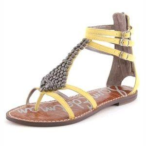 Sam Edelman Gladiators Yellow Ginger Zip Sandals